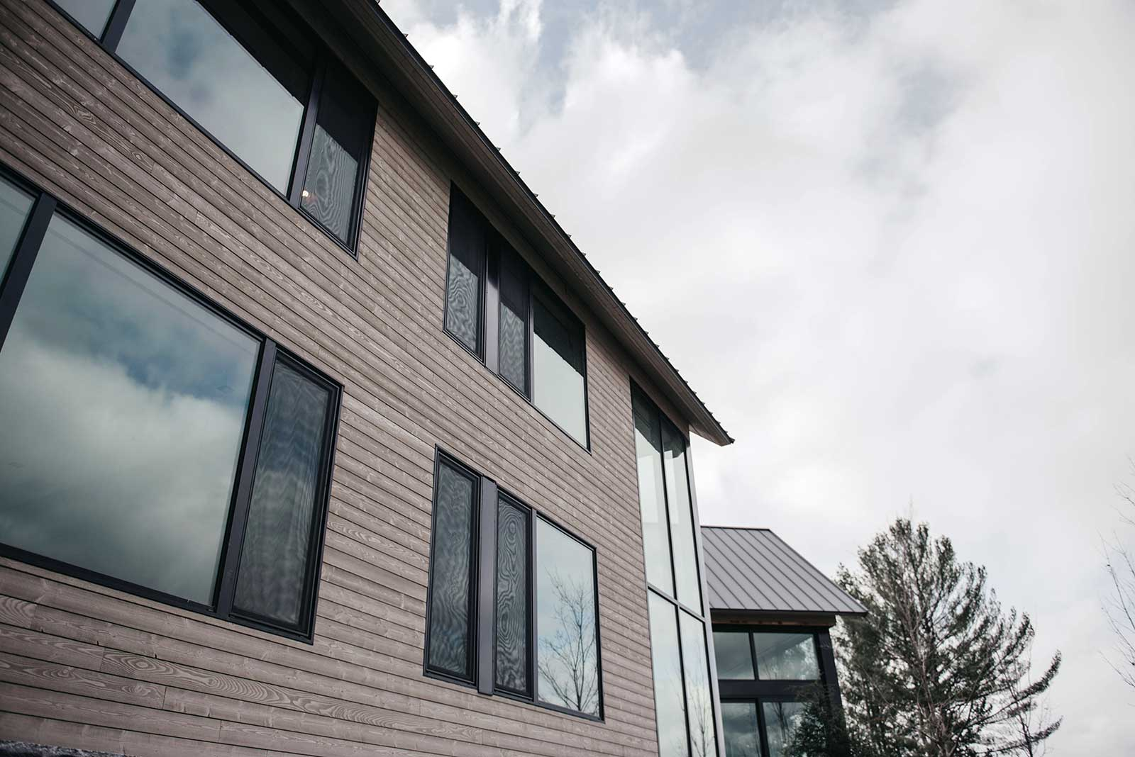 "Millwork Siding: 1"" X 6"" Nickel Reveal, Rough Face, Douglas Fir, Custom Colour 