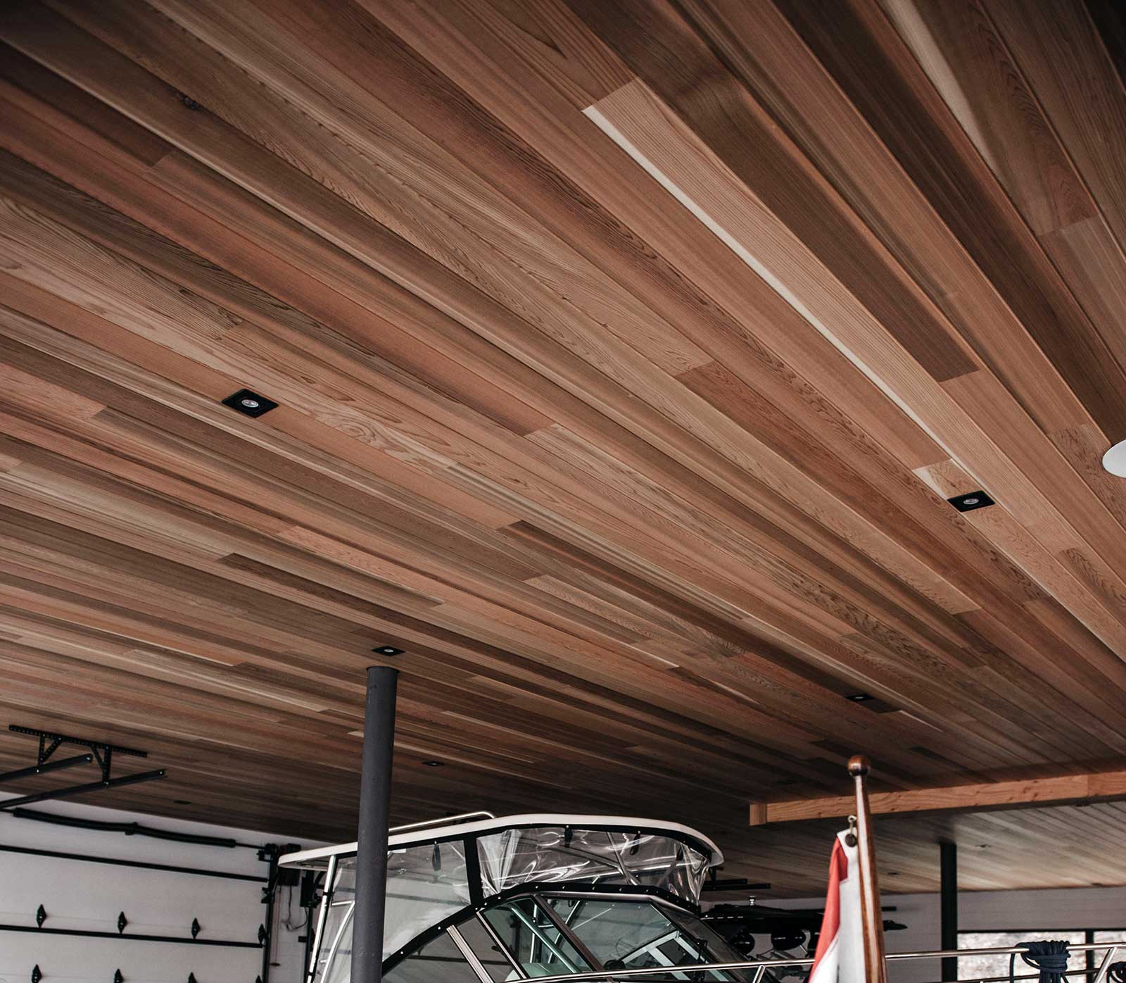 "Millwork Ceiling: 1"" X 6"" Tongue & Groove, V Joint, Clear Premium Western Red Cedar"